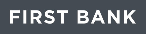 First Bank Logo - Grayscale