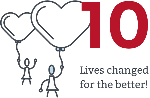 10 Lives changed for the better!