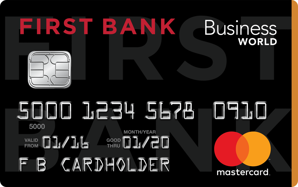 Business world credit card with rewards first bank the first bank business world credit card is designed to meet your unique business needs and earn rewards colourmoves