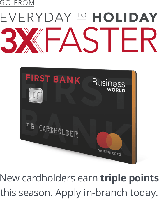 Business World Credit Card With Rewards First Bank