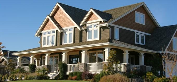 Exterior of modern family home.