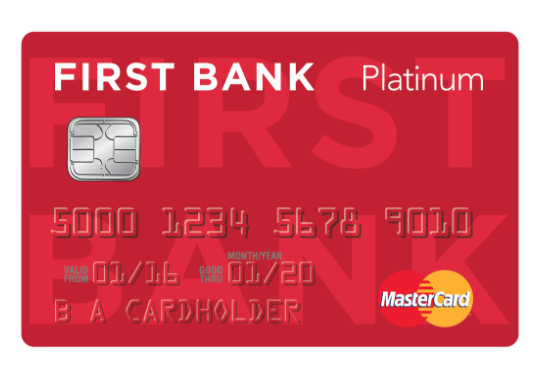 First Bank platinum credit card